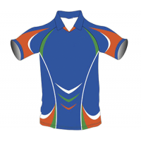 SB Customised Cricket Jersey Trouser Blue Orange Customised Cricket Clothing
