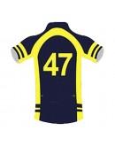 SB Customised Cricket Jersey Trouser Blue Yellow Customised Cricket Clothing