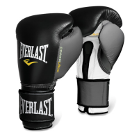 Everlast Powerlock Hook Loop Grey Black Boxing Training Gloves
