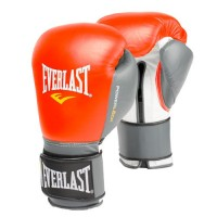 Everlast Powerlock Hook Loop Red Grey Boxing Training Gloves