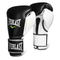 Everlast Powerlock Hook Loop White Black Boxing Training Gloves