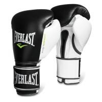 Everlast Powerlock Hook Loop White Black Boxing Training Gloves