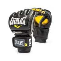 Everlast Powerlock MMA Boxing Fight Gloves Black