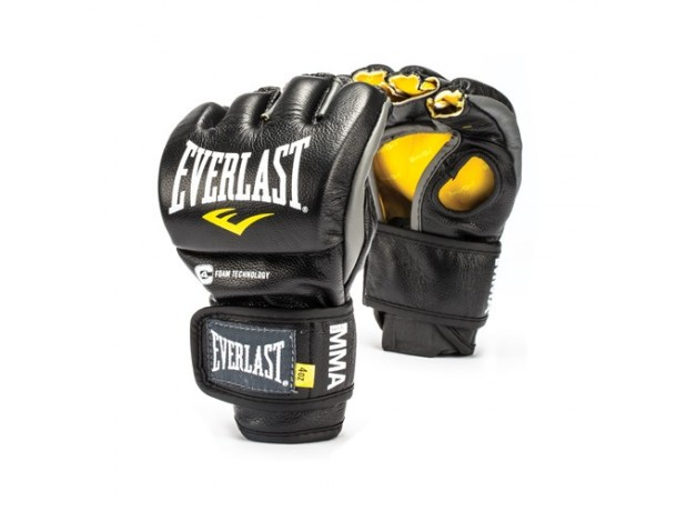 Everlast Powerlock MMA Boxing Fight Gloves Black