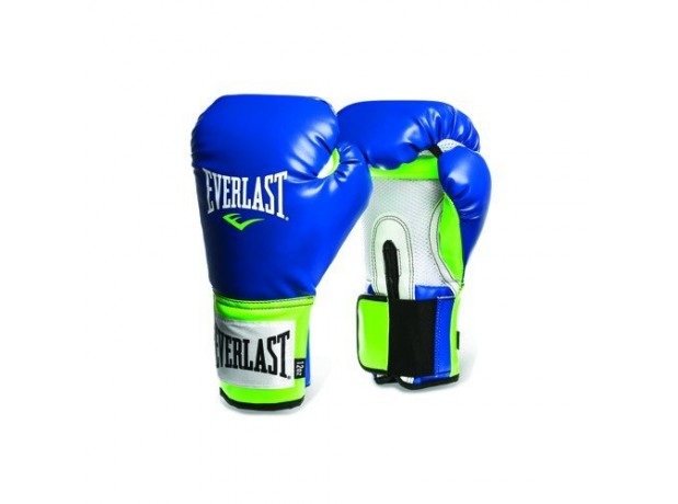 Everlast Pro Style Blue Green Training Boxing Gloves