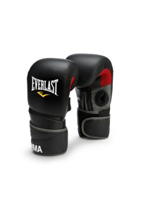 Everlast Protex 2 MMA Clinch Strike Boxing Gloves Black