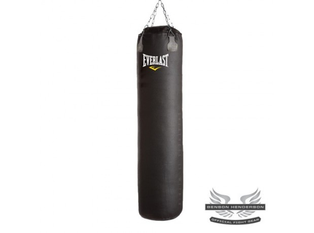 Everlast Boxing Leather Thai Heavy Bag Black Unfilled