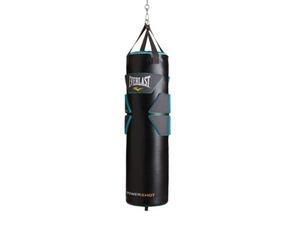 Everlast Boxing Powershot Heavy Bag Black Blue Unfilled
