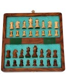 Handmade 9 Inch Wooden Chess Travel Magnetic Chess Set