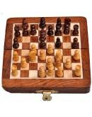 Handmade 5 Inch Wooden Chess Travel Magnetic Chess Set