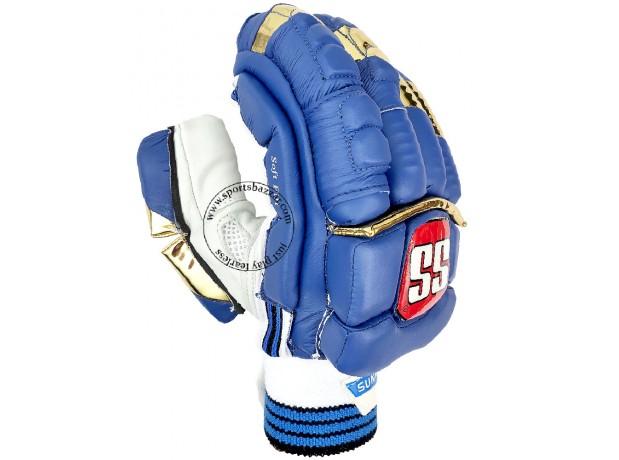 SS IPL Edition Mumbai Indians Cricket Batting Gloves Blue Color