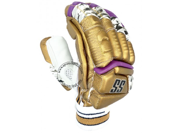 SS IPL Edition Cricket Batting Gloves Golden Color