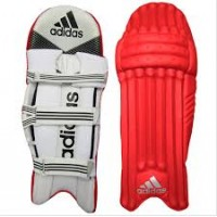 Adidas Red Color Cricket Batting Legguard for Men