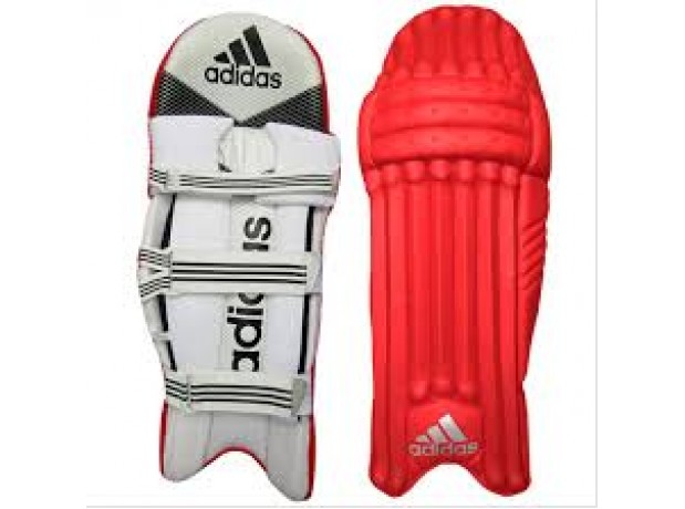 Adidas Red Color Cricket Batting Legguard for Men