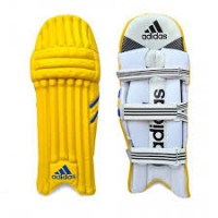 Adidas Yellow Color Cricket Batting Legguard for Men