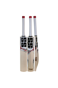 SS White Edition Red Color English Willow Cricket Bat