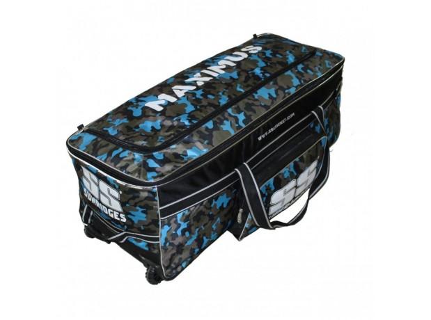 SS Maximus Camo Wheels Cricket Kit Bag