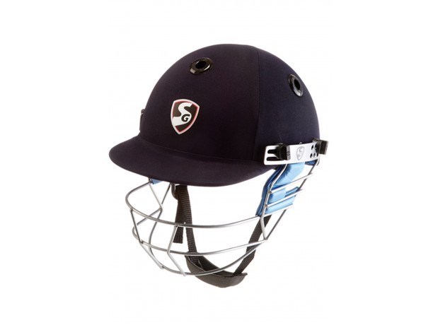 SG Carbo Fab Cricket Batting Helmet for Men and Youth - Navy Blue Color