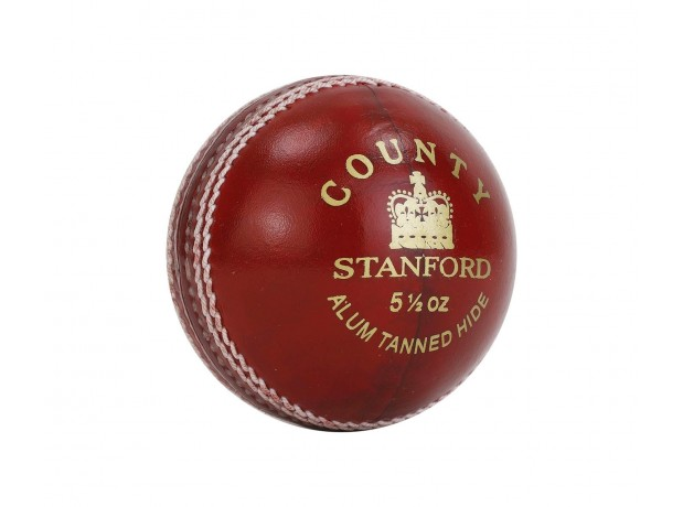 SF County Special Leather Cricket Ball Red