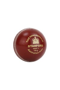 SF Test International Leather Cricket Ball Red
