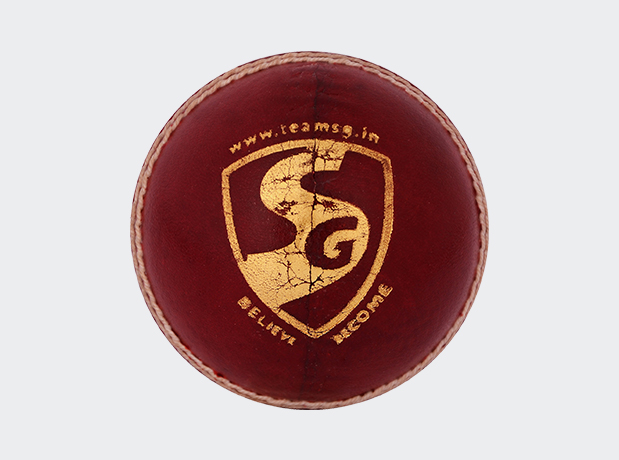 SG Club 4 Piece Leather Cricket Ball Red Colour