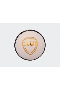 SG Club 4 Piece Leather Cricket Ball White Colour