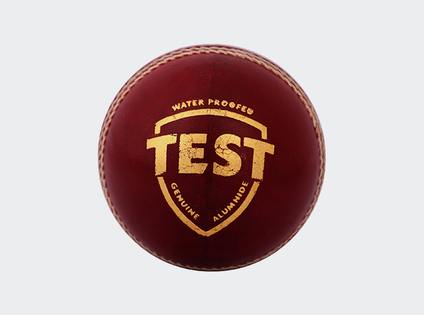 SG Test Four Piece Leather Cricket Ball Red Colour