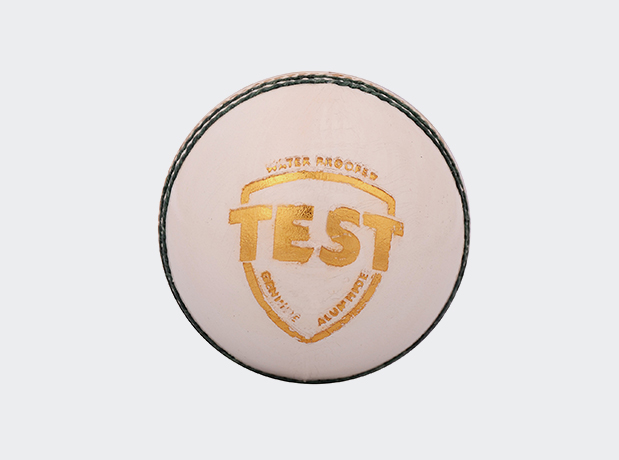 SG Test Four Piece Leather Cricket Ball White Colour
