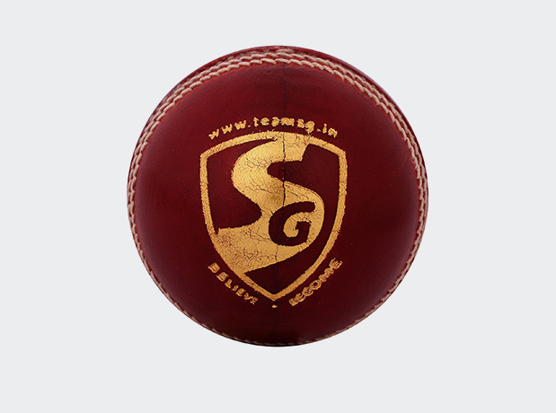 SG Tournament 4 Piece English Leather Cricket Ball Red Colour