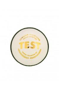 SG Test Four Piece Leather Cricket Ball White Colour