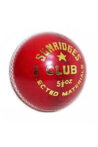 SS Club 4 Piece Leather Cricket Ball Red Color
