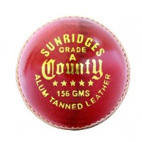 SS County 4 Piece Leather Cricket Ball Red Color