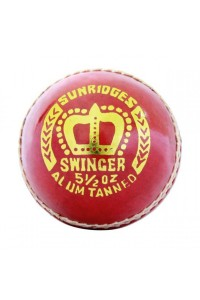 SS Swinger 2 Piece Leather Cricket Ball Red Color