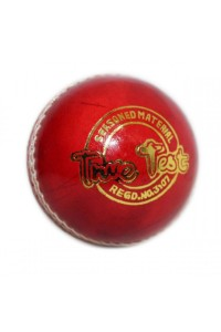 SS True Test 2 Piece Leather Cricket Ball Red Color