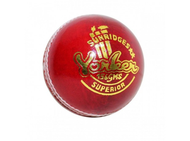SS Yorker 4 Piece Leather Cricket Ball Red Color
