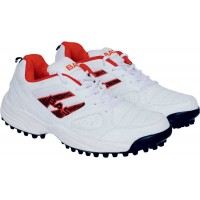 Bas Vampire 001 Cricket Shoes Colour White Red
