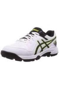 Asics Gel Peake 6 Cricket Batting Shoes in White and Black Color