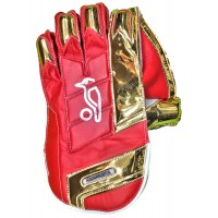 Kookaburra Pro Players IPL Wicket Keeping Gloves RCB Red Color