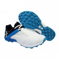 Kookaburra Pro 1500 Rubber White Blue Cricket Shoes