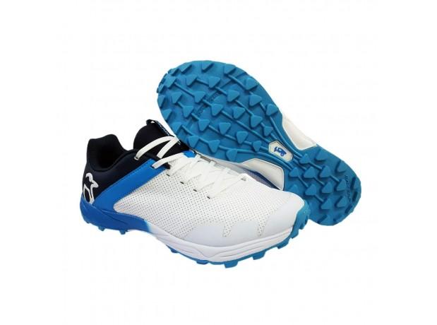 Kookaburra Pro 1500 Rubber White Blue Cricket Shoes