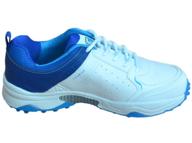 SG Club 3.0 White Blue Batting Cricket Shoes for Men's and Youth