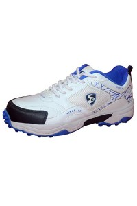 SG Century 2.0 White Blue Batting Cricket Shoes for Men's and Youth