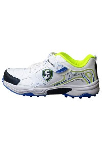 SG Century 2.0 White Lime Batting Cricket Shoes for Men's and Youth