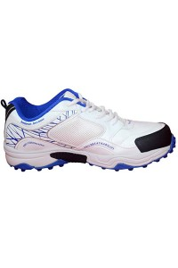 SG Club 2.0 White Blue Batting Cricket Shoes for Men's and Youth