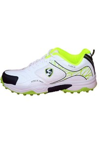 SG Club 2.0 White Lime Batting Cricket Shoes for Men's and Youth