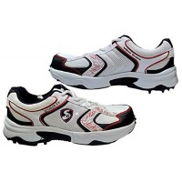 SG Scorer 2.0 White Navy Batting Cricket Shoes for Men's and Youth